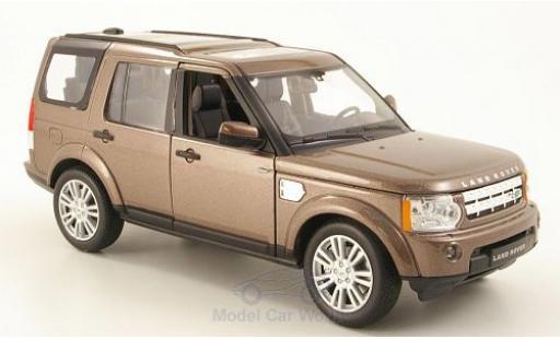 Land Rover Discovery 1/24 Welly 4 métallisé marron miniature