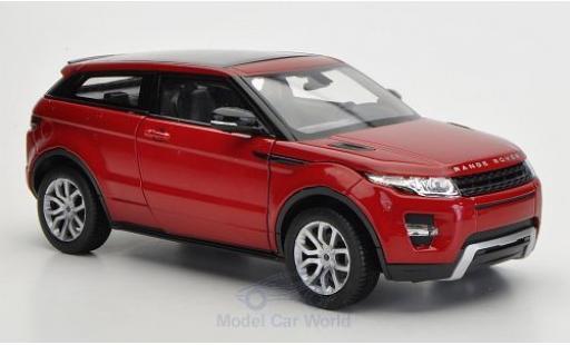 Land Rover Range Rover 1/24 Welly Evoque metallise rouge ohne Vitrine miniature
