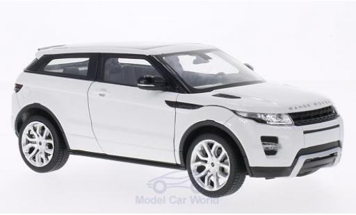 Land Rover Range Rover 1/24 Welly Evoque blanche miniature