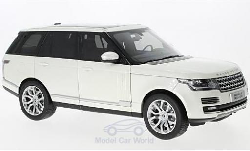 Land Rover Range Rover 1/18 Welly metallic-blanche 2013 GTA Edition miniature