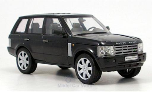 Land Rover Range Rover 1/24 Welly noire 2003 ohne Vitrine miniature