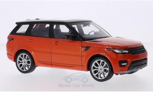Land Rover Range Rover 1/24 Welly Sport metallic-dunkelorange/noire miniature