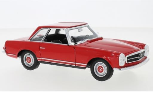 Mercedes 230 1/24 Welly SL (W113) rot 1963 modellautos