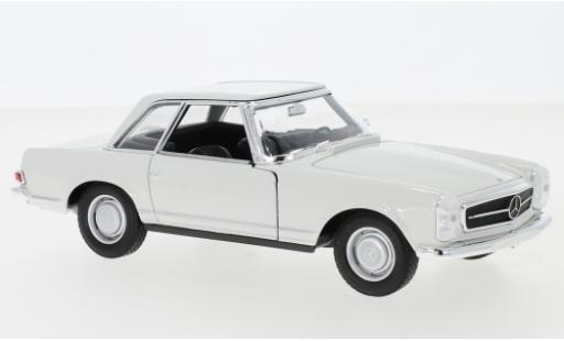 Mercedes 230 1/24 Welly SL (W113) weiss 1963 modellautos