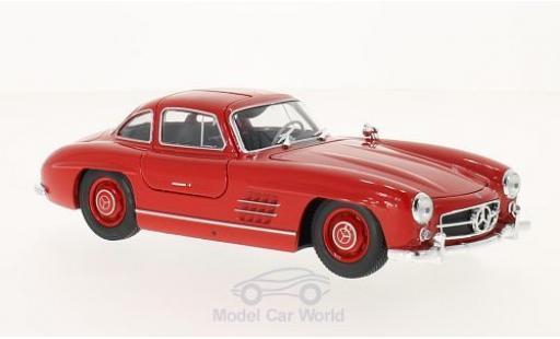 Mercedes 300 SL 1/24 Welly (W198) rouge miniature