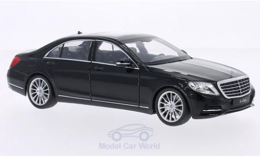 Mercedes Classe S 1/24 Welly (W222) black 2013 diecast model cars