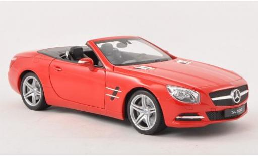 Mercedes Classe SL 1/18 Welly SL 500 (R231) rouge 2012 Verdeck ouvert miniature