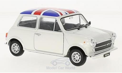 Mini Cooper S 1/24 Welly 1300 blanche UK Flag miniature