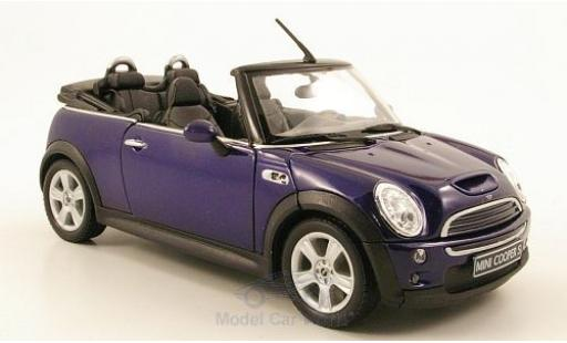 Mini Cooper S 1/24 Welly S Cabriolet bleue miniature