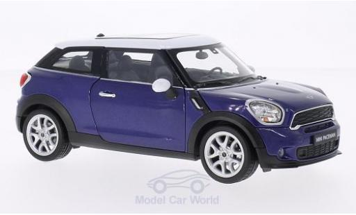 Mini Cooper 1/24 Welly S Paceman metallise bleue/blanche miniature
