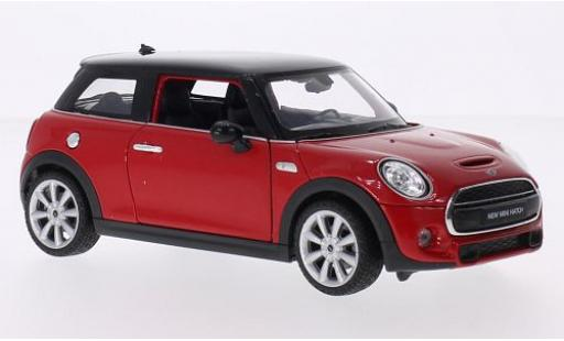 Mini Cooper 1/24 Welly S rouge/noire 2014 miniature