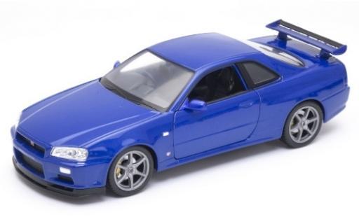 Nissan Skyline 1/24 Welly GT-R (R34) metallise bleue RHD miniature