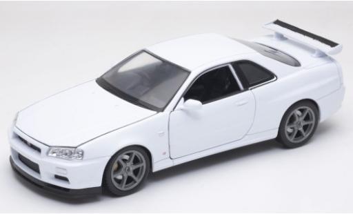 Nissan Skyline 1/24 Welly GT-R (R34) blanche RHD miniature