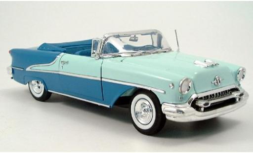 Oldsmobile Super 88 1/18 Welly Cabriolet verte/bleue 1955 miniature