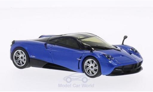 Pagani Huayra 1/43 Welly metallise bleue/noire miniature