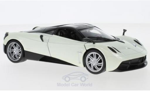 Pagani Huayra 1/24 Welly metallise blanche miniature