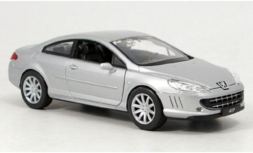 Peugeot 407 1/24 Welly Coupe grey sans Vitrine diecast model cars