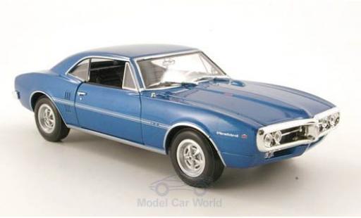 Pontiac Firebird 1/24 Welly métallisé bleue 1967 ohne Vitrine miniature