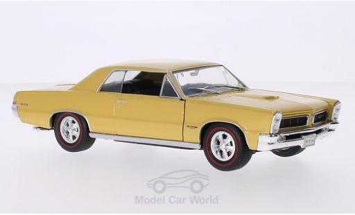 Pontiac GTO 1/24 Welly metallise gold 1965 miniature