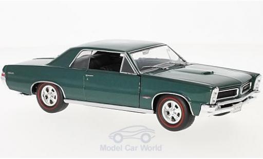 Pontiac GTO 1/24 Welly métallisé turquoise 1965 miniature