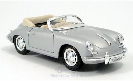 Porsche 356 1/24 Welly B Cabriolet grise miniature