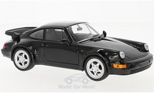 Porsche 964 Turbo 1/24 Welly 911  3.0 noire 1974 miniature