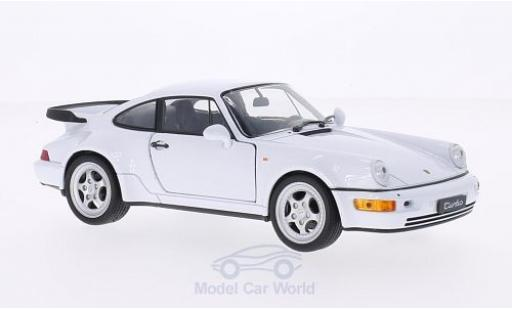 Porsche 964 Turbo 1/24 Welly 911  white diecast model cars