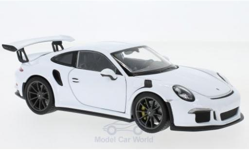 Porsche 991 GT3 RS 1/24 Welly 911  white 2015 diecast model cars