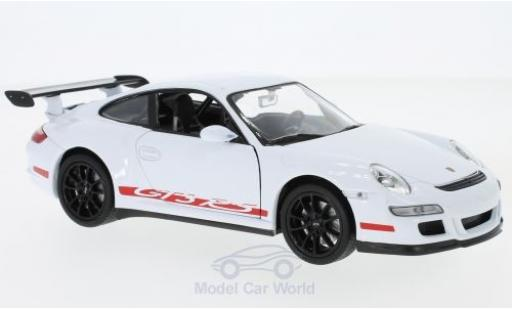 Porsche 997 GT3 RS 1/24 Welly 911   blanche miniature