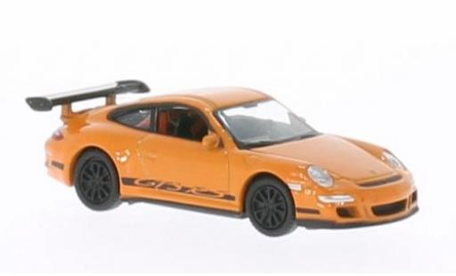 Porsche 997 GT3 RS 1/87 Welly 911  orange modellino in miniatura