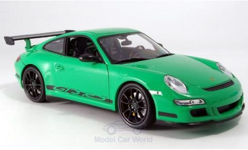 Porsche 997 1/18 Welly 911 GTR3 RS green ohne Vitrine diecast model cars