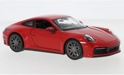 Porsche 911 1/24 Welly Carrera 4S red diecast model cars