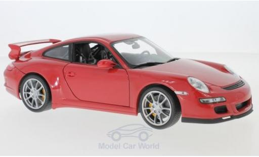 Porsche 911 1/18 Welly GT3 (997) rouge miniature