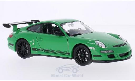Porsche 997 GT3 RS 1/24 Welly 911  verte/Dekor miniature