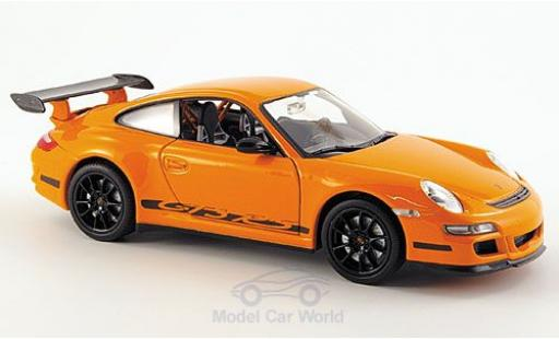 Porsche 997 GT3 RS 1/24 Welly 911  orange ohne Vitrine modellino in miniatura