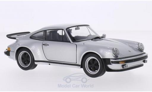 Porsche 911 1/24 Welly Turbo 3.0 grise 1974 miniature