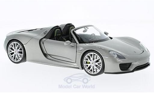 Porsche 918 1/24 Welly Spyder grey offen diecast