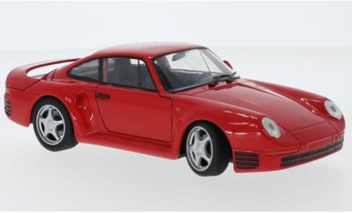 Porsche 959 1/24 Welly red diecast model cars