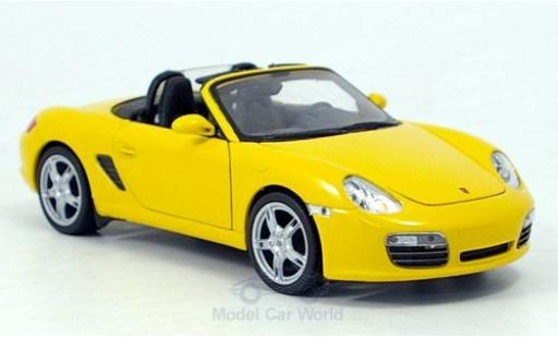 Porsche Boxster 1/24 Welly S jaune miniature