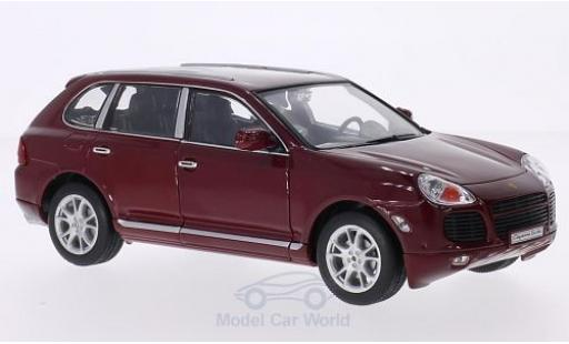 Porsche Cayenne Turbo 1/24 Welly rouge miniature