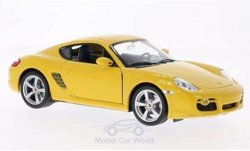 Porsche Cayman S 1/24 Welly jaune miniature