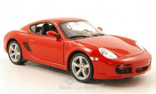 Porsche Cayman S 1/24 Welly rouge miniature