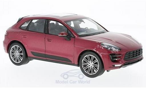 Porsche Macan Turbo 1/24 Welly metallise rouge miniature