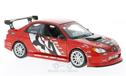 Subaru Impreza 1/24 Welly APR Performance rouge/Dekor miniature