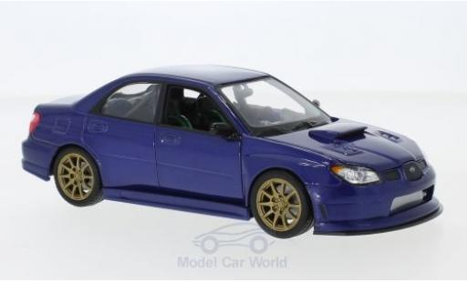 Subaru Impreza 1/24 Welly WRX STI bleue miniature