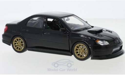 Subaru Impreza 1/24 Welly WRX STI schwarz modellautos