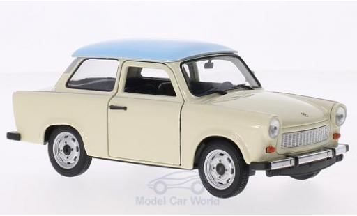 Trabant 601 1/24 Welly beige/bleue miniature