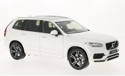 Volvo XC 1/18 Welly 90 blanche 2015 miniature