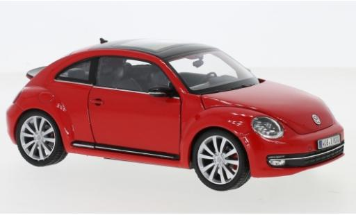Volkswagen Beetle 1/24 Welly rouge 2012 miniature