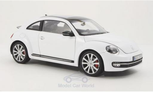 Volkswagen Beetle 1/18 Welly blanche 2012 miniature